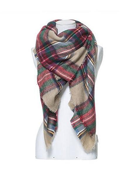 d0b37e8230b Blanket Oversized Tartan Scarf Wrap Shawl Plaid Cozy Checked ...