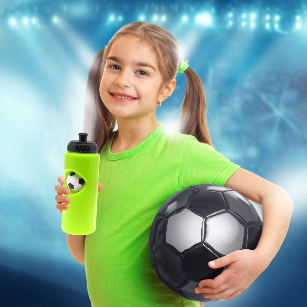 PP PICADOR Kids Water Bottle with Straw /& Handle Leak-Proof BPA-Free