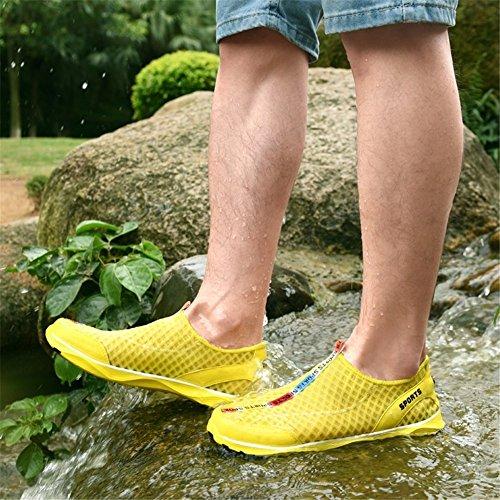 hombre de tamaño River para Zapatos Amarillo de Zapatos deportivos de deportivos moda hombre gran malla para Zapatos Zapatos qZ0fSx