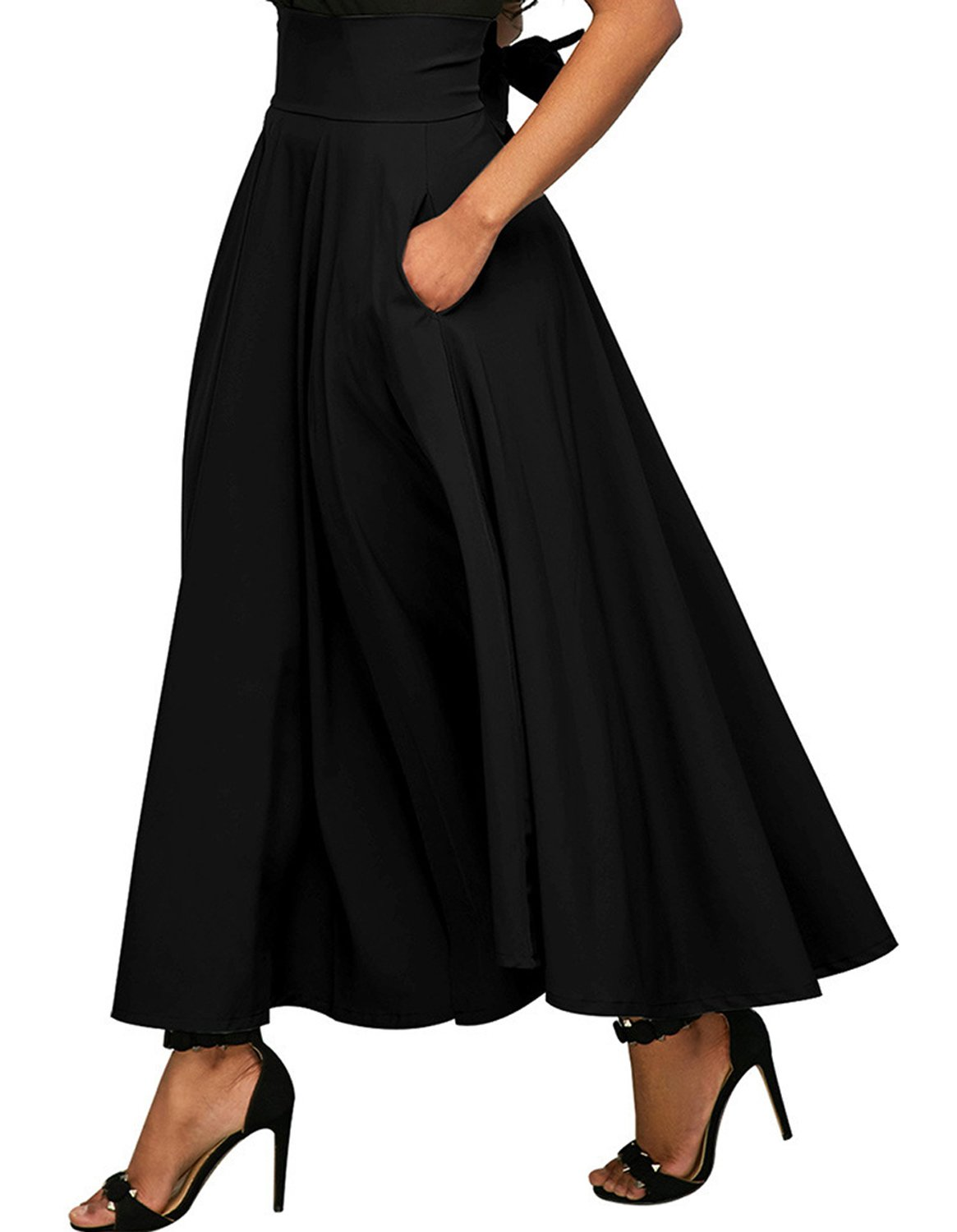 Kimikal Gothic Steampunk Long Sateen Corset Skirt 4