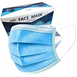 X-CHENG Face Mask - Disposable Face Mask-Non Woven Disposable 3 Ply Earloop Breathable Facial Masks with Adjustable…