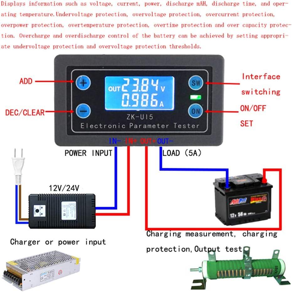 BASSK DC5-38V Multifunktions Voltmeter Amperemeter Elektronische Last Batterie Monitor Tester