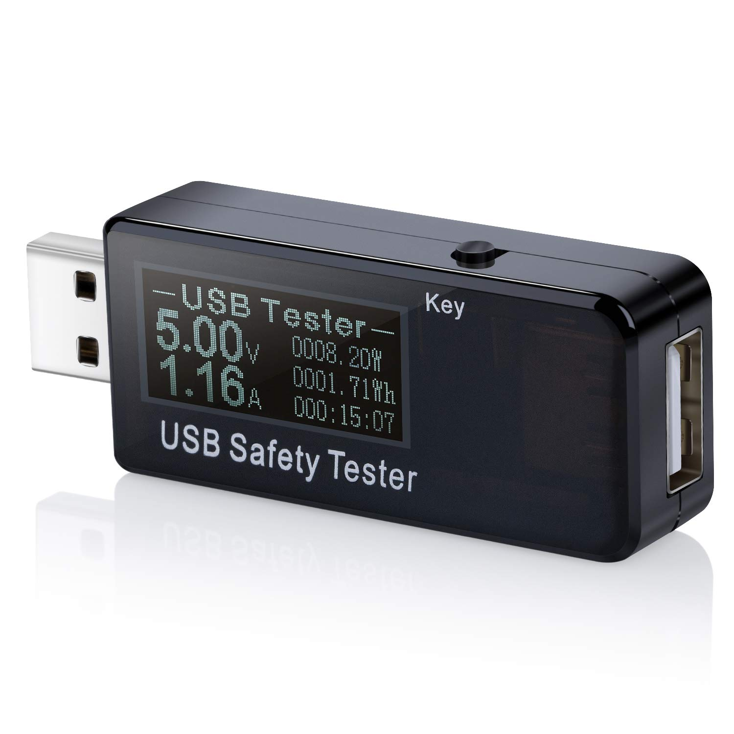 LCD Dual USB Charger Mobile Power Detector Voltage Current Meter Tester Monitor