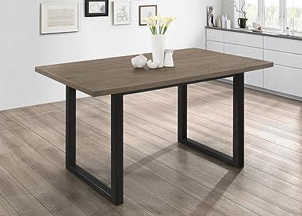 Amazoncom WE Furniture Madison Wood Dining Table Aged Grey - Aged wood dining table