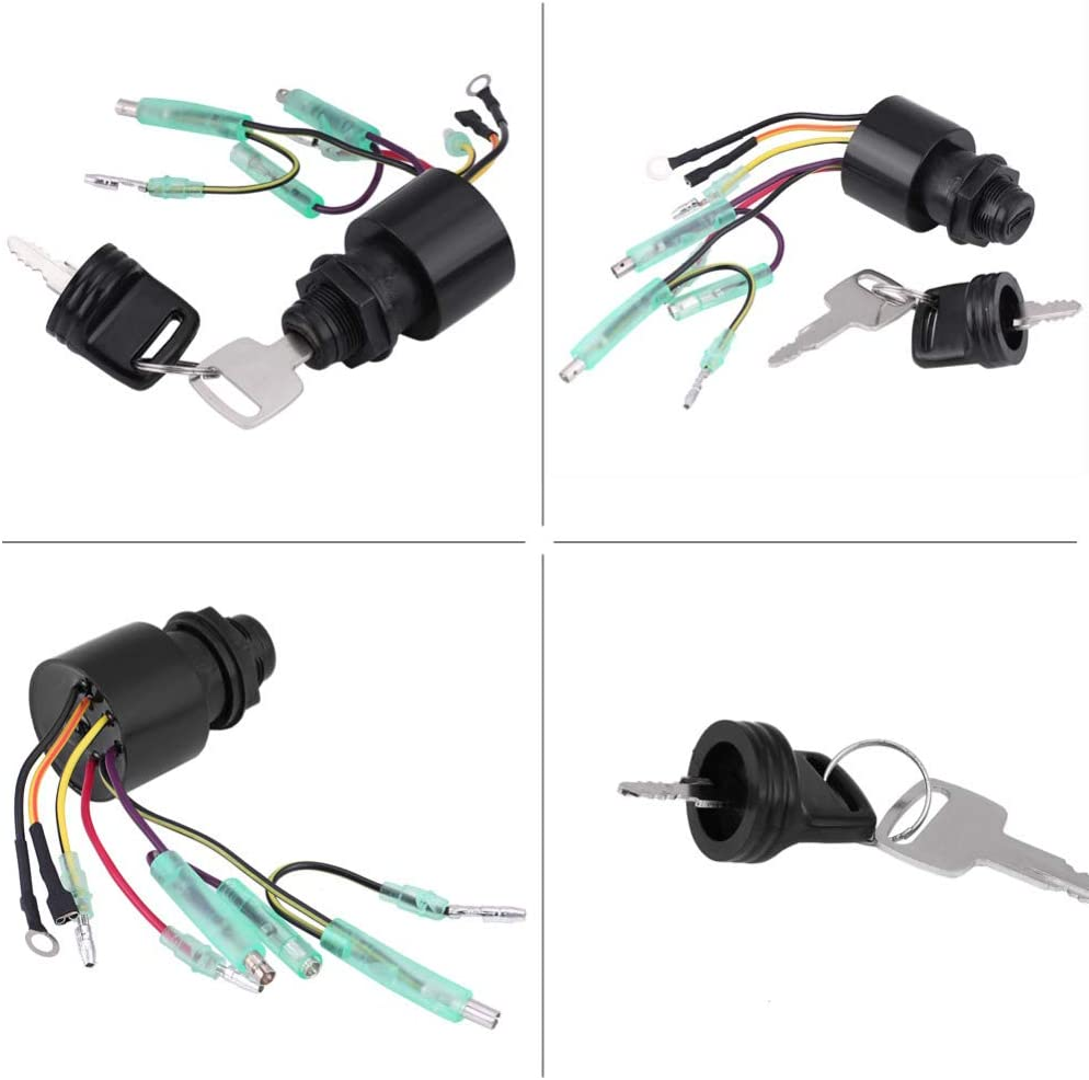 Ignition Starter Switch,87-17009A5 Boat Ignition Key Switch Assembly for Mercury Outboard Remote Control Box