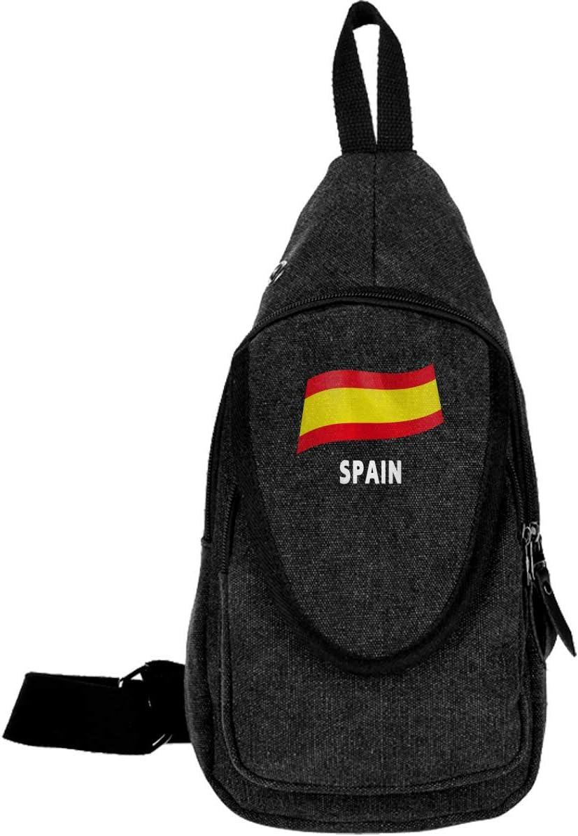 España Bandera Mochila para Hombres Mujeres Crossbody Bolsa Ciclismo Gimnasio: Amazon.es: Equipaje