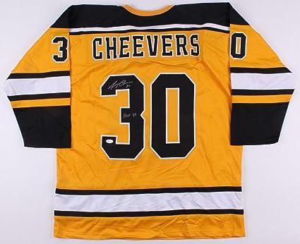 Gerry Cheevers Autographed Jersey - Custom) - Coa! - JSA Certified ... 0a341e56a
