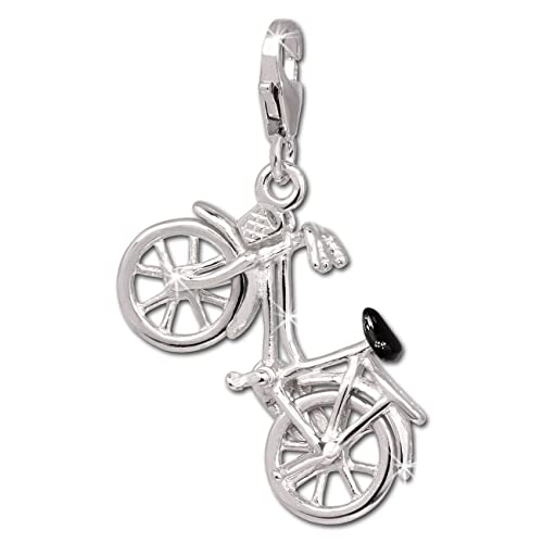 SilberDream Charm Fahrrad 925 Sterling Silber Charms Anhänger für Armband Kette Ohrring FC690