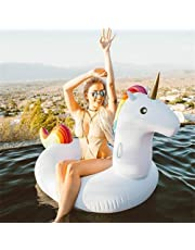200X100X90CM Leisure Giant Inflatable Woodpecker Pool Float Large Outdoor Swimming Pool Floatie Lounge Toy for Adults & Kids (Unicorn 200CM)