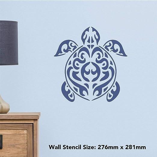 Azeeda Grand A2 Tortue /à Chapeau Pochoir Mural WS00022513