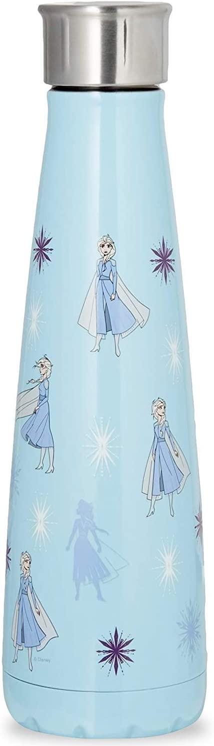 S'well Stainless Steel Water Bottle - 15 Fl Oz - Queen of Arendelle - Double-Layered Vacuum-Insulated Keeps Food and Drinks Cold and Hot - with No Condensation - BPA Free Water Bottle