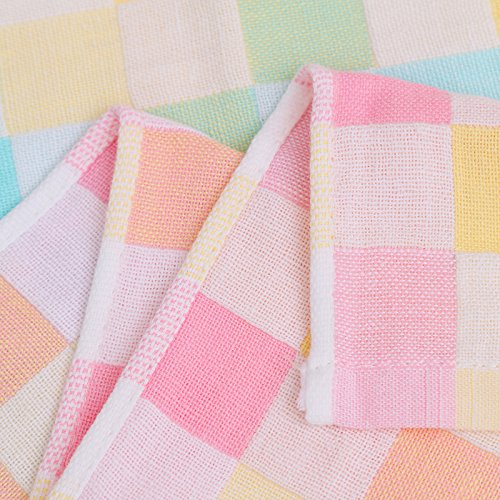 Casa lávate la cara de algodón babero de bebé toallas toalla pequeña toalla Baby Towel lavarse la cara, pañuelo cara toallas ,1528 ,azul 25x25cm.