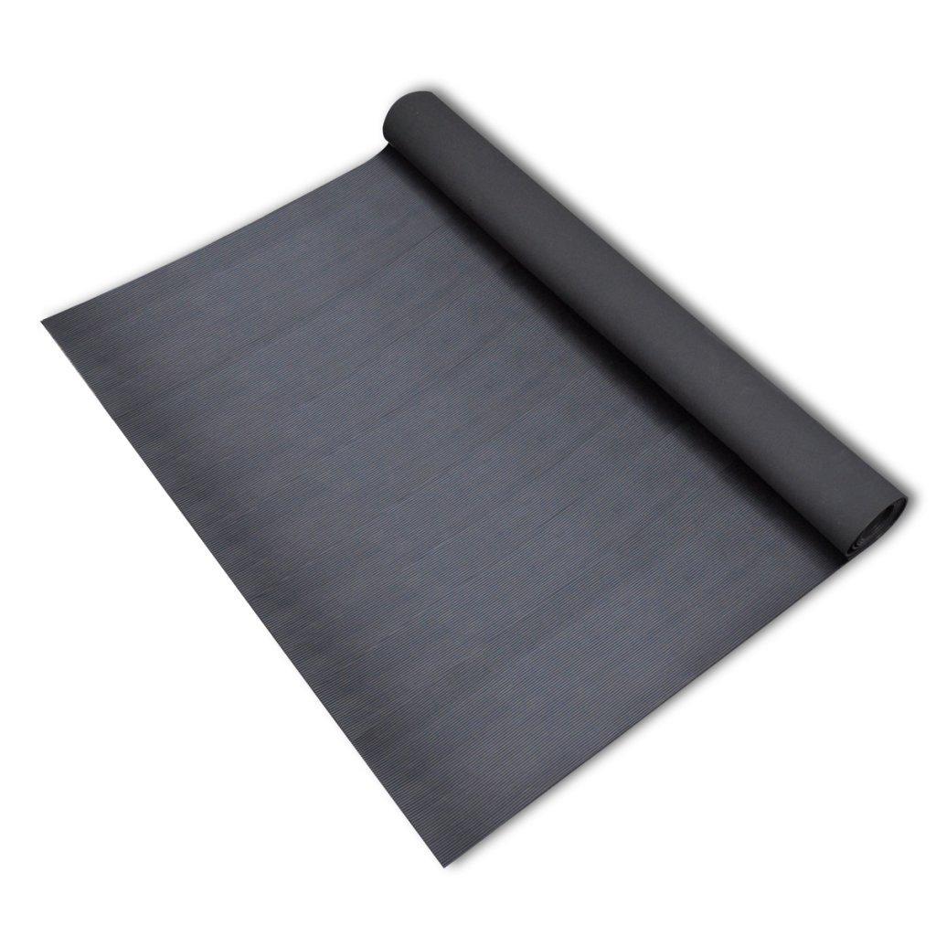 vidaXL Tapis Caoutchouc Antid/érapant 5x1m Mod/èle /à Nervures Fines Protection
