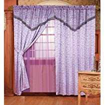 Light Purple Jacquard Floral Window