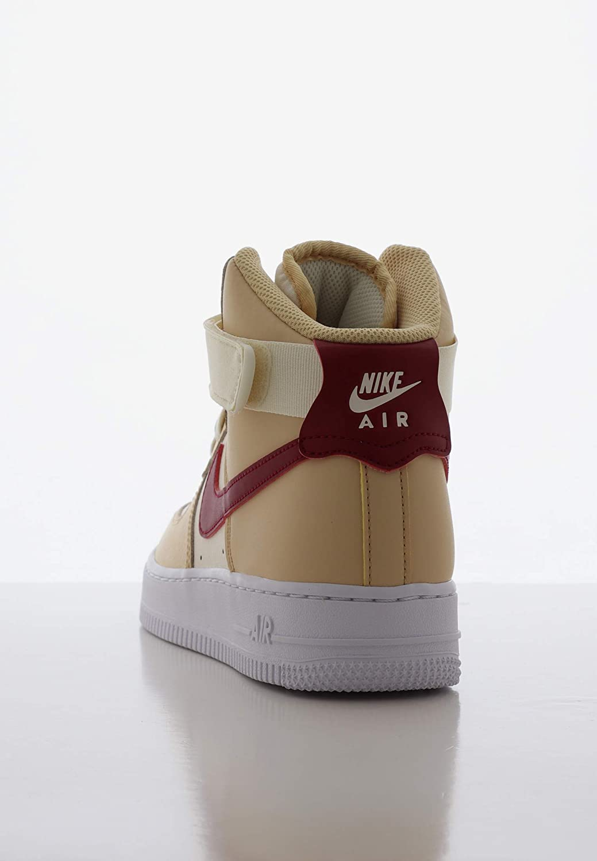 Nike Damen WMNS Air Force 1 High Basketballschuhe, Schwarz, Medium White Onyx Noble Red Pale Ivory White