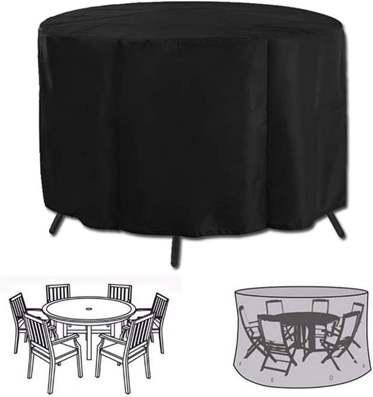 Amazon.com: Iptienda Outdoor Patio Furniture Covers, Waterproof UV Resistant Anti-Fading Round Patio Dining Table And Chairs Set Cover, Garden Patio Round Cube Outdoor Rattan Table, Sofa Cover Fits For 6 Seater: Home