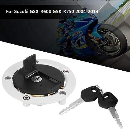 Kimiss Motorradzubehör Zündschloss Zündschalter Tankdeckelabdeckung Mit 2 Schlüsseln Gsx R 600 Gsx R750 Sv1000 Auto