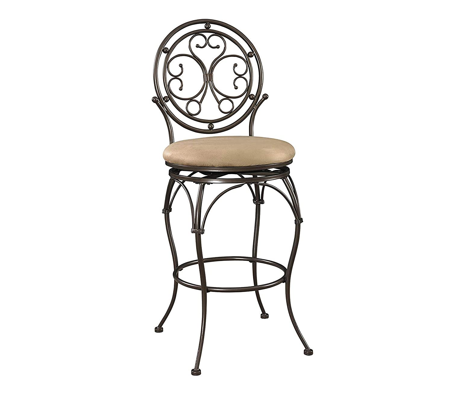 Cool Amazon Com Wood Style Big And Tall Scroll Circle Back Machost Co Dining Chair Design Ideas Machostcouk
