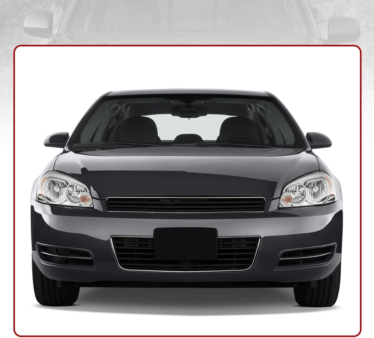 Black Housing Headlights Assembly for 2006-2013 Chevrolet Impala 14-16 Impala Limited 2006 2007 Monte Carlo Replacement Headlamp Driving Light 25958359 25958360