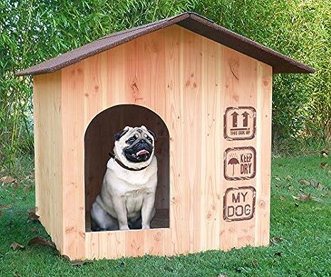 Nicho (madera Made in France Vosges tejado Shingle rojo: Amazon.es: Productos para mascotas