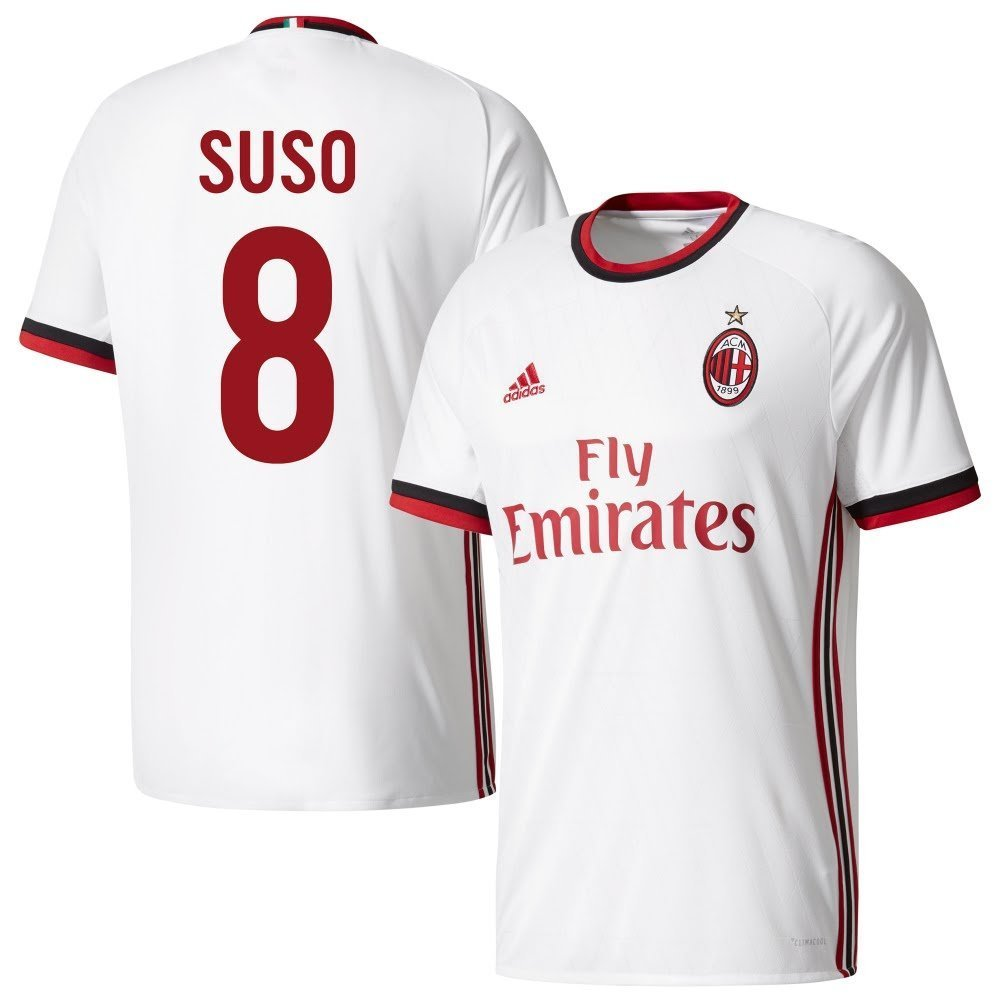 AC Mailand Away Trikot 2017 2018 + Suso 8 (Fan Style) - L