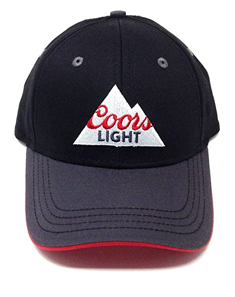 b6d8761f Image Unavailable. Image not available for. Color: Black & Grey Coors Light  Rocky Mountain Logo Adjustable Hat