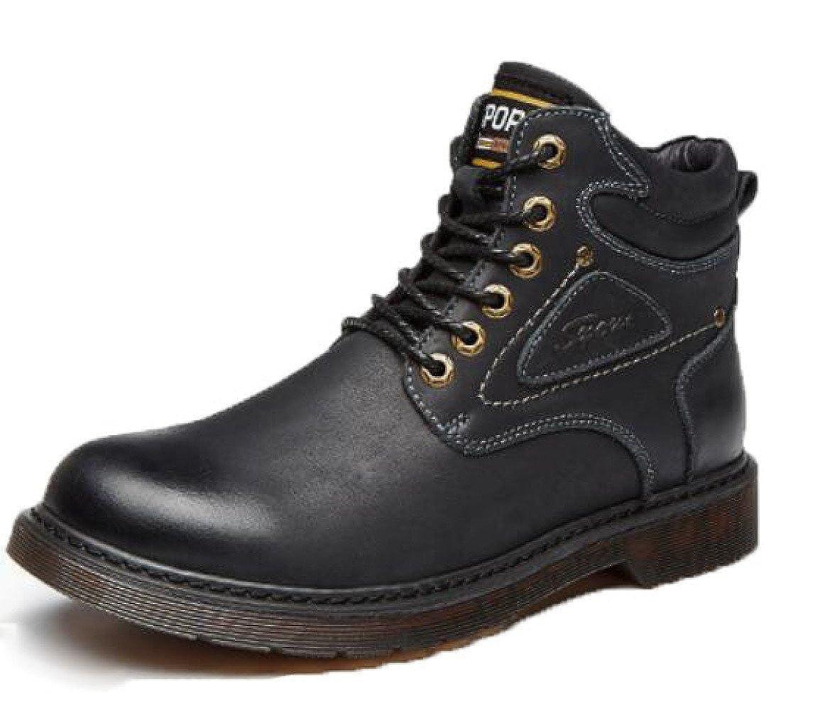 GTYMFH Herrenschuhe Leder Martin Stiefel Plus Samt Lässig Einzelne Schuhe Erhöhte Schuhe Freizeitschuhe