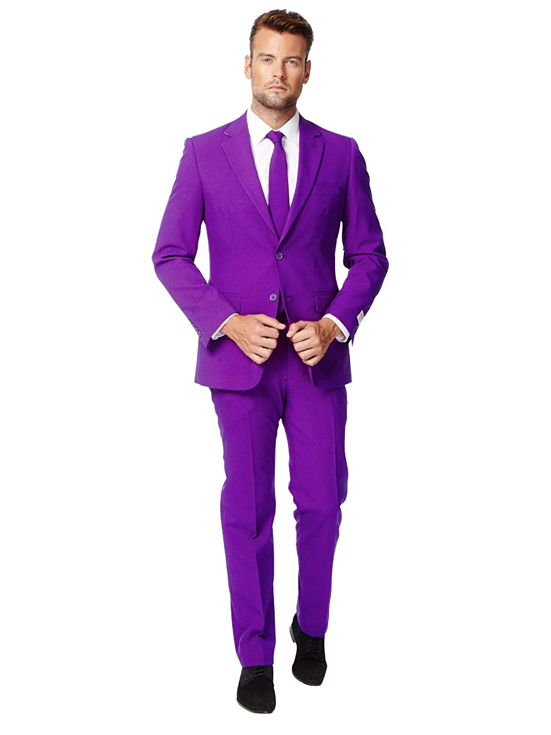 compra limitada púrpura Prince OppoSuits Solid Solid Solid Colourojo Suits For Men Coming with Pants, Jacket and Tie  costo real