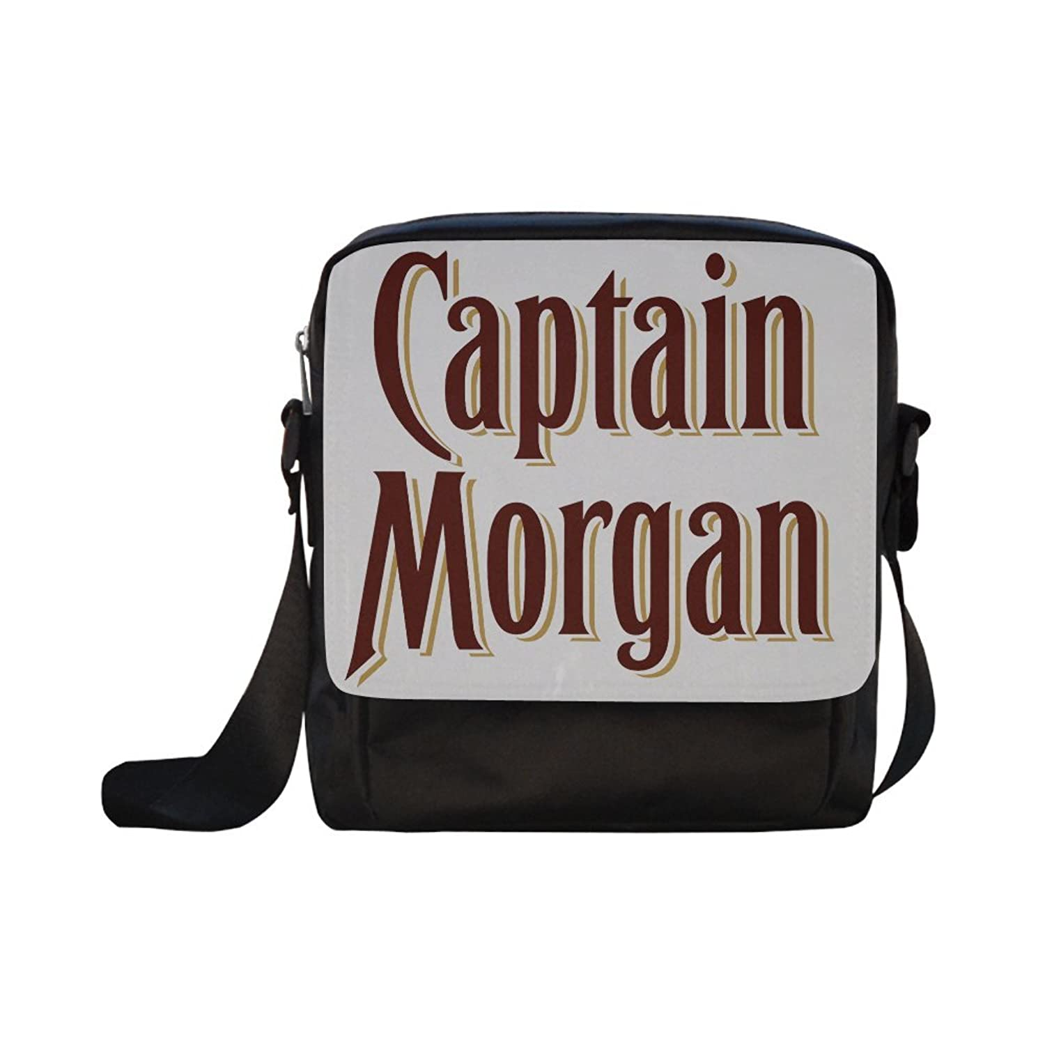 Niceda Captain Morgan Black Custom Cross-body Nylon Bags