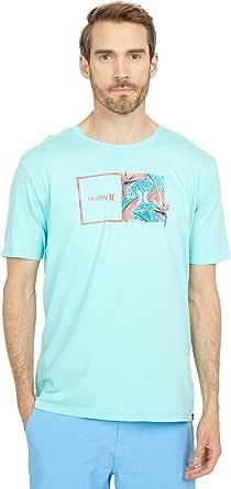 Hurley Camiseta de manga corta con diseño de icono de corte para hombre