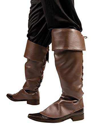 00a6a2c0 Pirate Brown Boot Covers Adult Size: Amazon.co.uk: Toys & Games