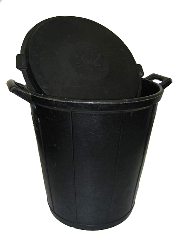 fiel Kanguro 10010026Poubelle N ° 6, sans couvercle, 75L Noir 75L Noir