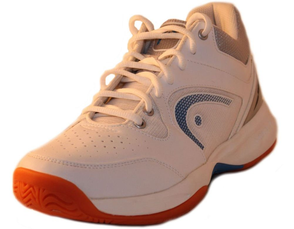 HEAD Men's Sonic 2000 MID Racquetball/Squash Indoor Court Shoes (Non-Marking) (White/Blue) 7.0 (D) US