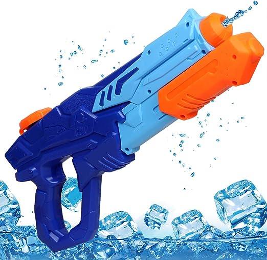 MOZOOSON Pistola de Agua de Juguete para Niñas de Niños, Potente Chorro de Agua con un