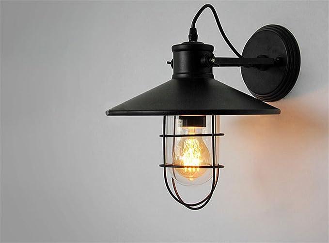 Avanthika e27 industriale retro lampada da parete applique da parete