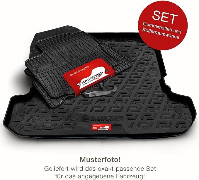 Autoteppich Stylers Gummimatten Kofferraumwanne Set Passgenau Für Ats Koffer Set 98787 Auto