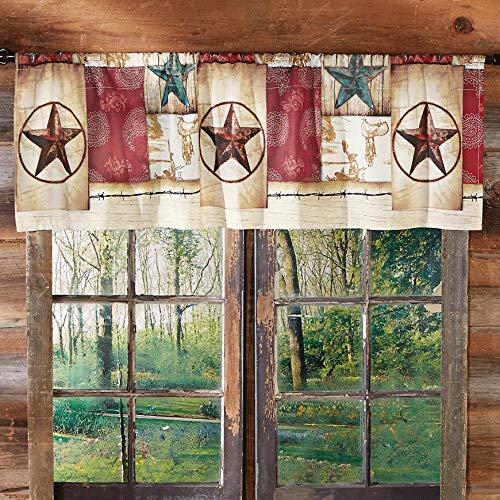 Black Forest Décor Rustic Southwest Cowboy Way Valance for Home Window