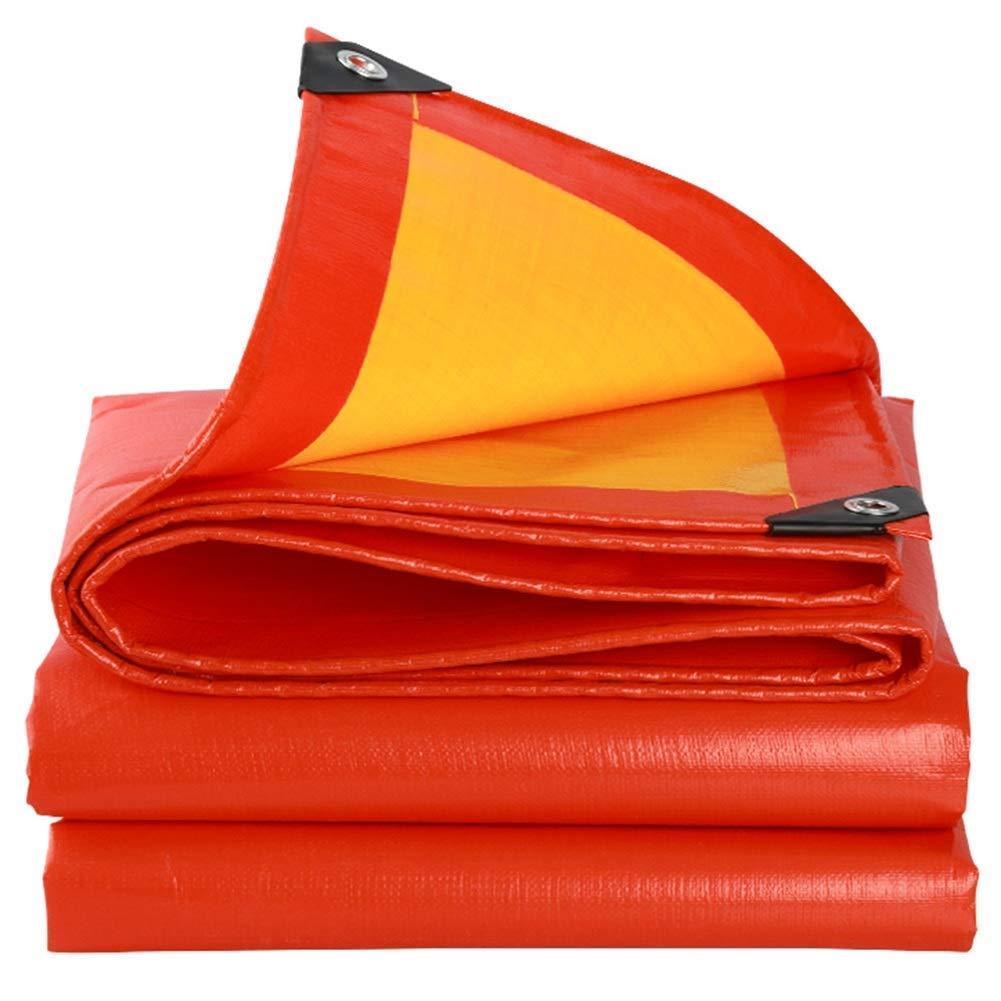 MSF Zeltplanen Outdoor-Camping Plane Sonnencreme Schatten Winddicht staubdicht Isolierung, Stiefel Autodach Schwimmbad Abdeckzelt, 210g   m², Dicke 0,38 mm, gelb (größe   3.8x3.8m)