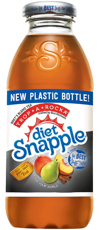 Diet Snapple Trop-A-Rocka Tea, 16 fl oz (12 Plastic Bottles)
