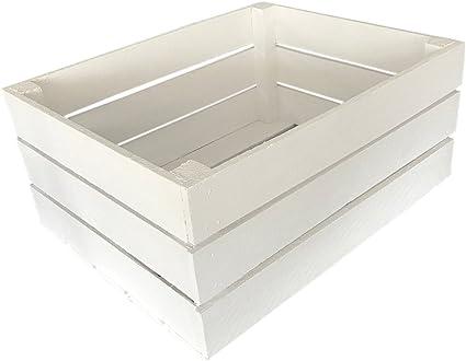 Kis AKC-01 W blanca caja de madera caja de caja Maceta Cajas de ...