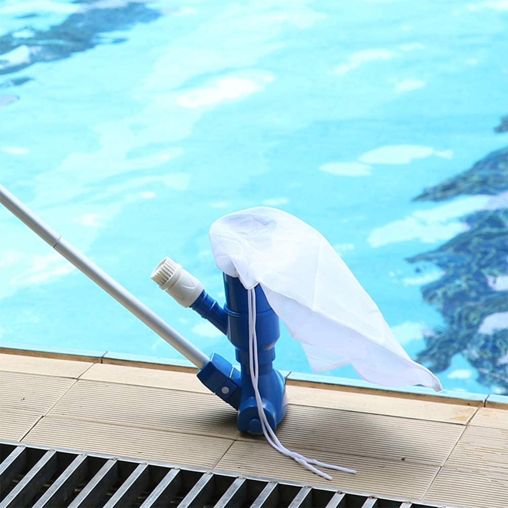 Stylelove Mini Aspirador de Piscina Port/átil Aspirador Subacu/ático con Bolsa de Malla Kit de Mango de Cabezal de Cepillo para Limpiar Piscina de Jacuzzi Peque/ño SPA