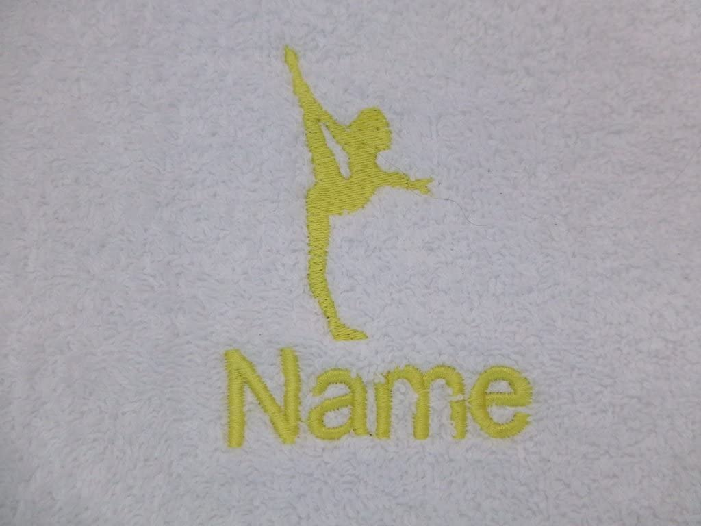 Face Cloth 30x30cm Bath Towel or Bath Sheet Personalised with GYMNAST logo and name of your choice EFY Face Cloth Hand Towel