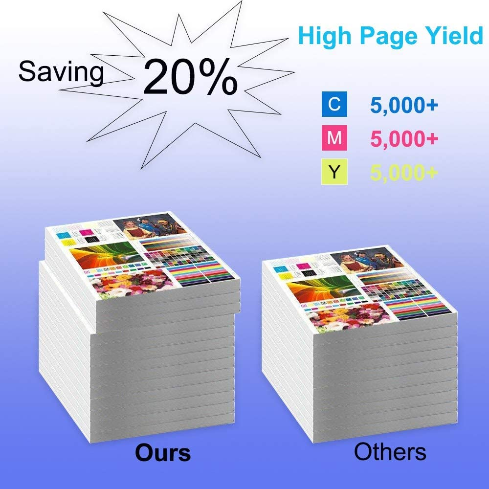 Compatible Laserjet Ent M553n M553x Printer Cartridge C+Y+M High Capacity 508A Toner Cartridge 3-Pack CF361A+ CF362A+ CF363A Replacement for