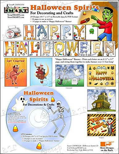 ScrapSMART - Halloween Spirits - Software Collection - Jpeg & PDF files (CDHWD156) ()