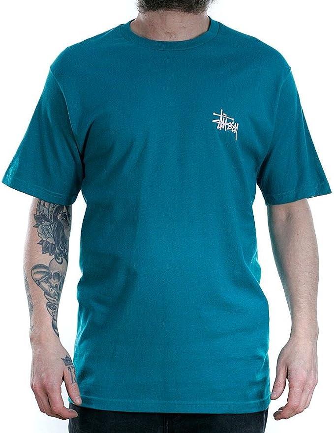 Camiseta Stussy – Basic verde/azul talla: M (Medium): Amazon.es: Ropa y accesorios