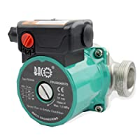 BACOENG Umwälzpumpe Heizungspumpe RS 25/6-130 Edelstahl Zirkulationspumpe für Zentralheizung 220V/ 50 Hz
