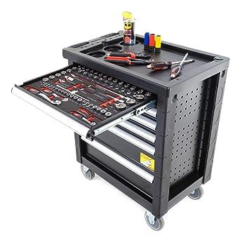 Carro de herramientas Ragnor ?Black Line? completo de 169 piezas: Amazon.es: Bricolaje y herramientas