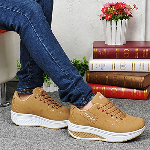 Sneakers for Women Athletic Shoes Women Sneaker Running Shoes Brown iFsotKjna