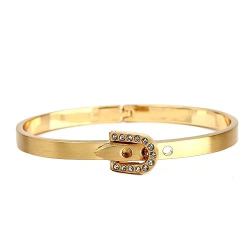 Brilliant Beautiful Silver Sparkle Gold Tone Cuff Bangle Bracelet Fashion Jewelry Bracelets