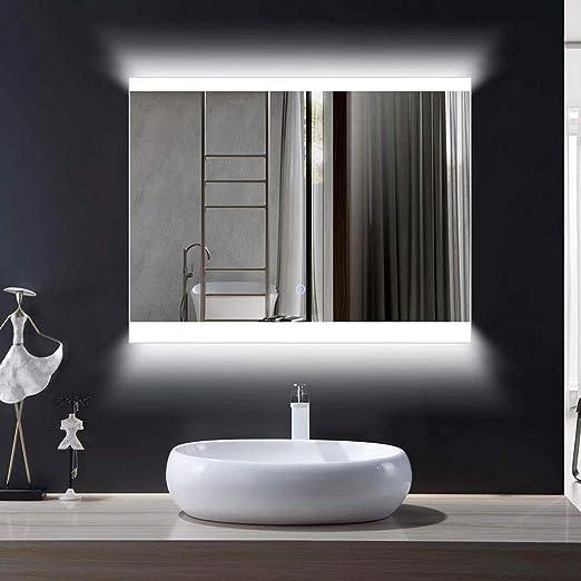 Amazon Com Decoraport Wall Light Mirror For Bathroom Horizontal